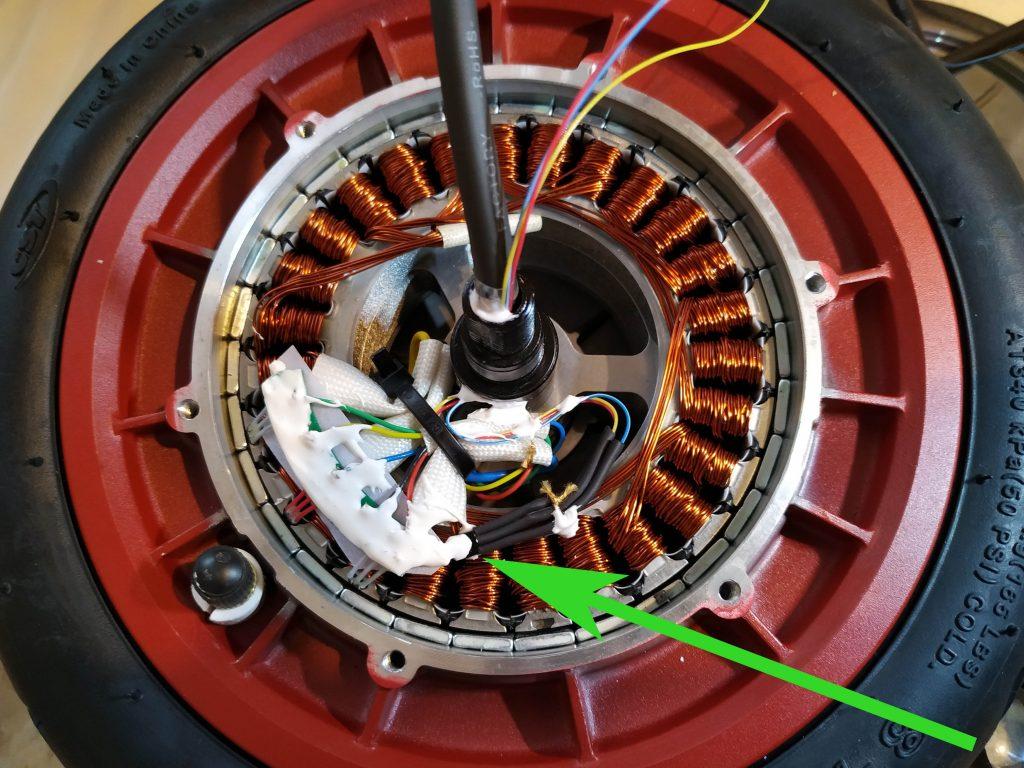umiestnenie snímača DS18B20 na vinutie motora