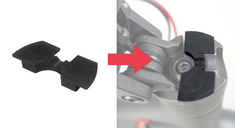 anti-vibračná výplň do skladacieho mechanizmu Xiaomi kolobežky, zdroj: Techmaniak